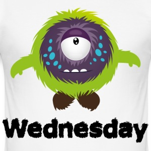 Wednesday Monster T-Shirts - Men's Slim Fit T-Shirt