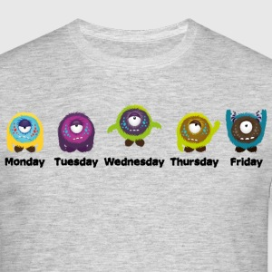 Days of the week Monster T-Shirts - Men's T-Shirt