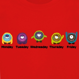 Days of the week Monster Long Sleeve Shirts - Kids' Premium Longsleeve Shirt