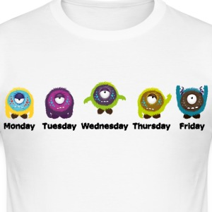 Dagen van de week Monster T-shirts - slim fit T-shirt