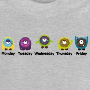 Days of the week Monster Shirts - Baby T-Shirt