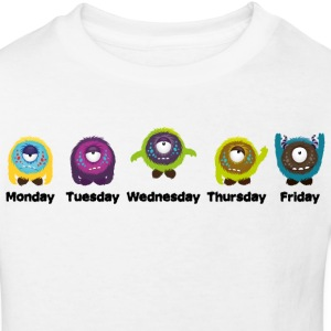 Wochentage Monster T-Shirts - Kinder Bio-T-Shirt