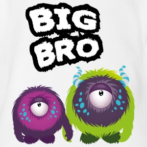 Big Bro Monster Camisetas - Body orgánico de maga corta para bebé