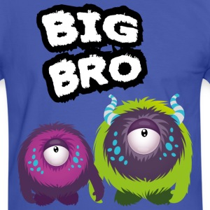 Big Bro Monster T-shirts - Kontrast-T-shirt herr