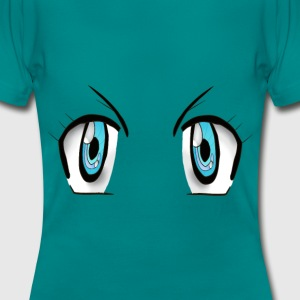 manga eyes T-Shirts - Frauen T-Shirt