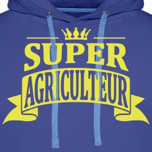 Super Agriculteur Sweat-shirts - Sweat-shirt à capuche Premium pour hommes