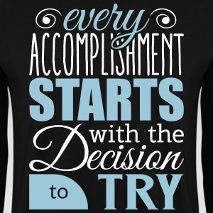 Every accomplishment starts with decision to try Felpe - Felpa da uomo