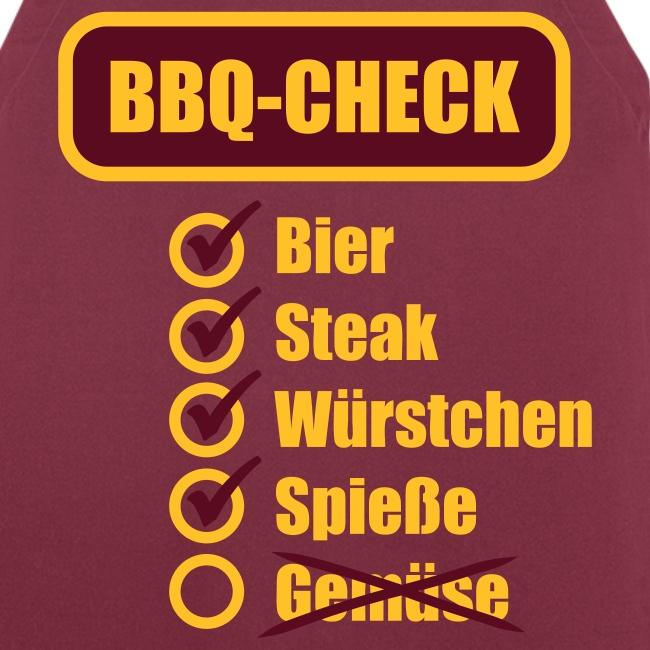 BBQ Check (Gelb) - Grillschürze