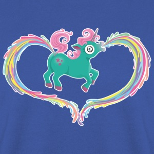 Koningsblauw Unicorn Sweaters - Mannen sweater