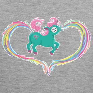 Heather grey Unicorn Tank Tops - Men's Premium Tank Top