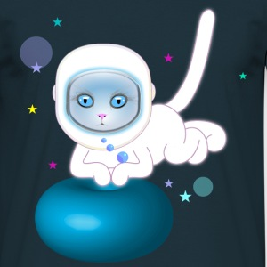 Cat in space T-Shirts - Men's T-Shirt