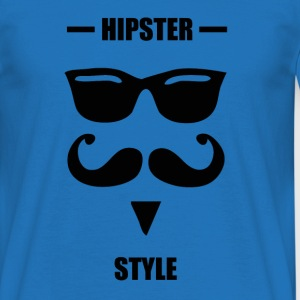 Hipster style blue - T-shirt Homme