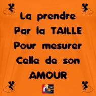 Motif ~ La PRENDRE PAR LA TAILLE pour mesurer celle de son AMOUR - Jeux de Mots Francois Ville