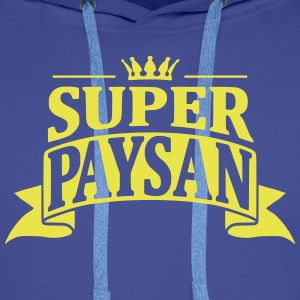 Super Paysan Sweat-shirts - Sweat-shirt à capuche Premium pour hommes