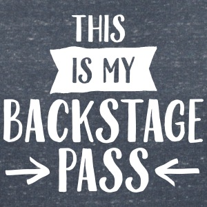 This Is My Backstage Pass T-Shirts - Frauen T-Shirt mit V-Ausschnitt