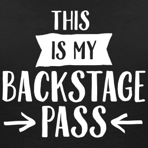 This Is My Backstage Pass Tee shirts - T-shirt col V Femme