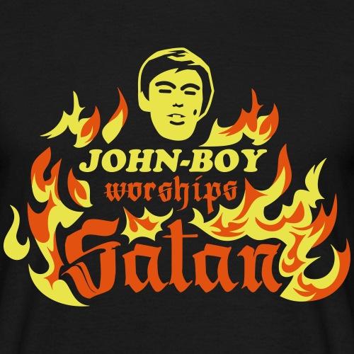 John-Boy worships Satan