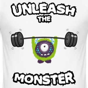 Unleash the Monster T-Shirts - Männer Slim Fit T-Shirt