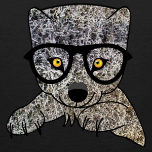 little wolf with glasses Tank Tops - Men's Premium Tank Top