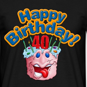 Cup Cake Happy Birthday 40 Rahmenlos® Design - Männer T-Shirt