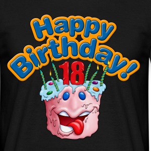 Cup Cake Happy Birthday 18 Rahmenlos® Design - Männer T-Shirt