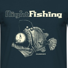 Navy night fishing T-Shirts