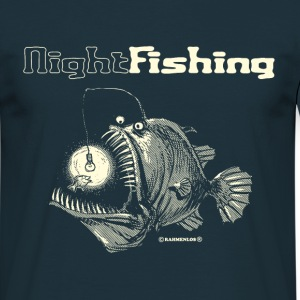Navy night fishing T-Shirts - Men's T-Shirt