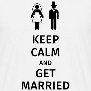 keep calm and get married T-skjorter - T-skjorte for menn