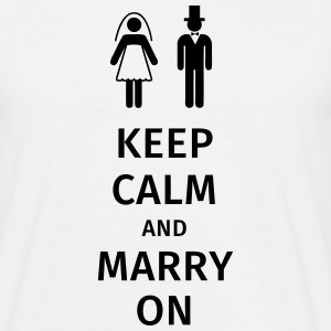 keep calm and marry on T-skjorter - T-skjorte for menn