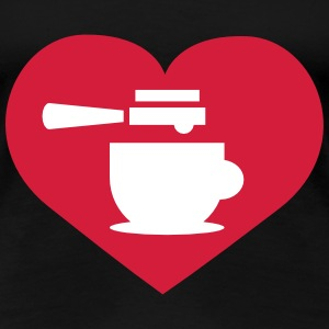 Coffee heart T-Shirts - Women's Premium T-Shirt