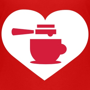 Coffee heart Shirts - Teenage Premium T-Shirt