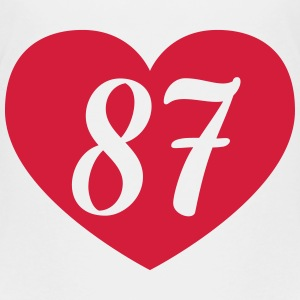 87th birthday heart Shirts - Teenage Premium T-Shirt