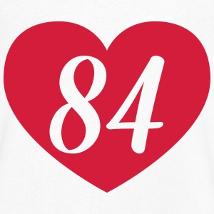 84th birthday heart T-Shirts - Men's V-Neck T-Shirt