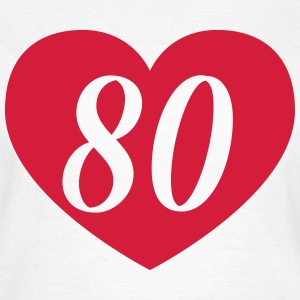80th birthday heart T-Shirts - Women's T-Shirt