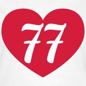 77th birthday heart T-Shirts - Women's T-Shirt