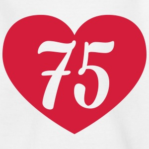 75th birthday heart Shirts - Kids' T-Shirt