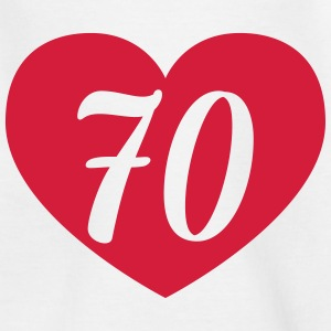 70th birthday heart Shirts - Teenage T-shirt