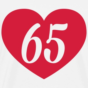 65th birthday heart T-Shirts - Men's Premium T-Shirt