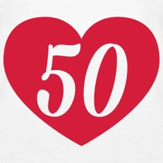 50th birthday heart Tops