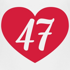 47th birthday heart Shirts - Teenage Premium T-Shirt