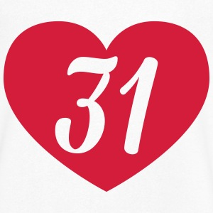 31st birthday heart T-Shirts - Men's V-Neck T-Shirt