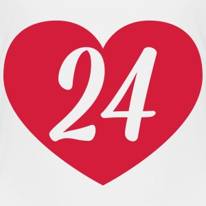 24th birthday heart Shirts - Kids' Premium T-Shirt