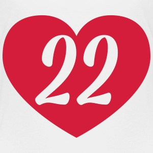 22nd birthday heart Shirts - Kids' Premium T-Shirt