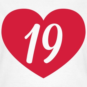 19th birthday heart T-Shirts - Women's T-Shirt