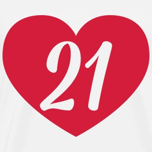 21st birthday heart T-Shirts - Men's Premium T-Shirt