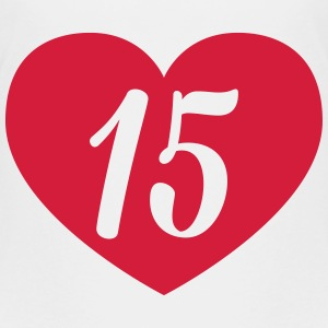 15th birthday heart Shirts - Teenage Premium T-Shirt