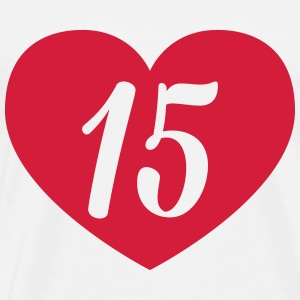 15th birthday heart T-Shirts - Men's Premium T-Shirt