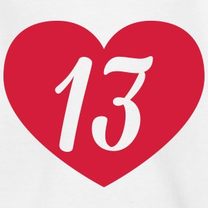13th birthday heart Shirts - Teenage T-shirt