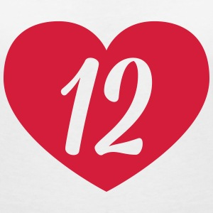 12th birthday heart T-Shirts - Women's V-Neck T-Shirt