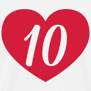 10th birthday heart T-Shirts - Men's Premium T-Shirt